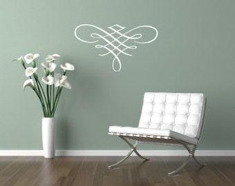 Wall Decal Flourish - Vinyl Wall Art Flourish 0011