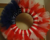 US Flag/ 4th of July Fabric Wreath