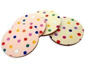 "Set of 4 cute coasters, polka dot coasters ""Konpeito"""