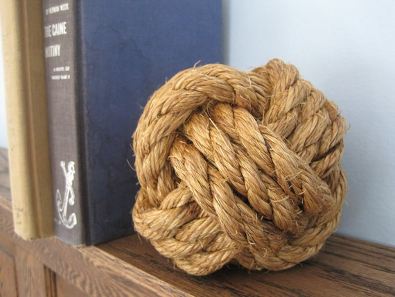 Large monkey 39 s fist nautical knot by monkeycs on etsy for Large nautical rope