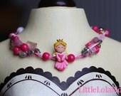 Little Lola Moon ribbon Sleeping princess necklace