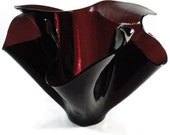 Purple glass vase  Handmade fused art glass Unique glass gift
