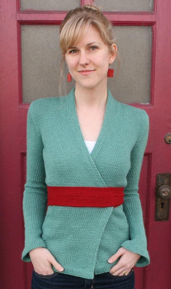 Knitting Pattern Kimono Cardigan : Kimono Wrap Cardigan PDF KNITTING PATTERN
