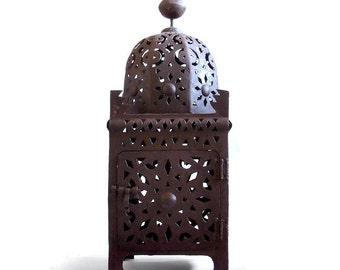 Lantern Moroccan Rustic Pierced  Iron