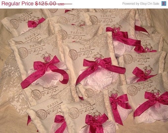 French Elegance Frou Frou Lavender Sachet Filled with French Lavender Shower Wedding Favor