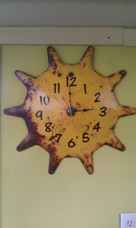 Recycled Clock From Old Farm Disk by JunkFX FREE SHIPPING