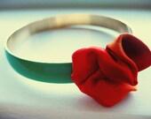 Tangerine Mint - Rose Bracelet Bangle