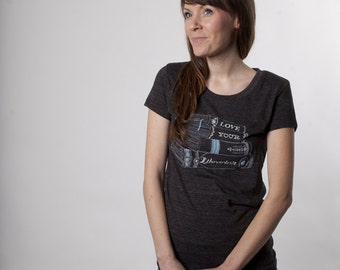 Love Your Llibrarian Womens Tshirt, Screenprinted Tshirt, Geek Chic
