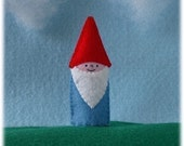 Special Listing for Kendell - Gnome Finger Puppet with Red Hat