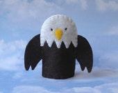 Eagle Finger Puppet - Bald Eagle Puppet - Patriotic Bird - Felt Eagle Finger Puppet - Felt Bird Puppet