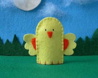 Chick Finger Puppet - Farm Chick Finger Puppet - Springtime Chicken Puppet - Felt Chick Finger Puppet - Farm Animal Felt Puppet