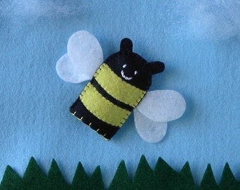 bee finger puppet template bumble bee puppet etsy