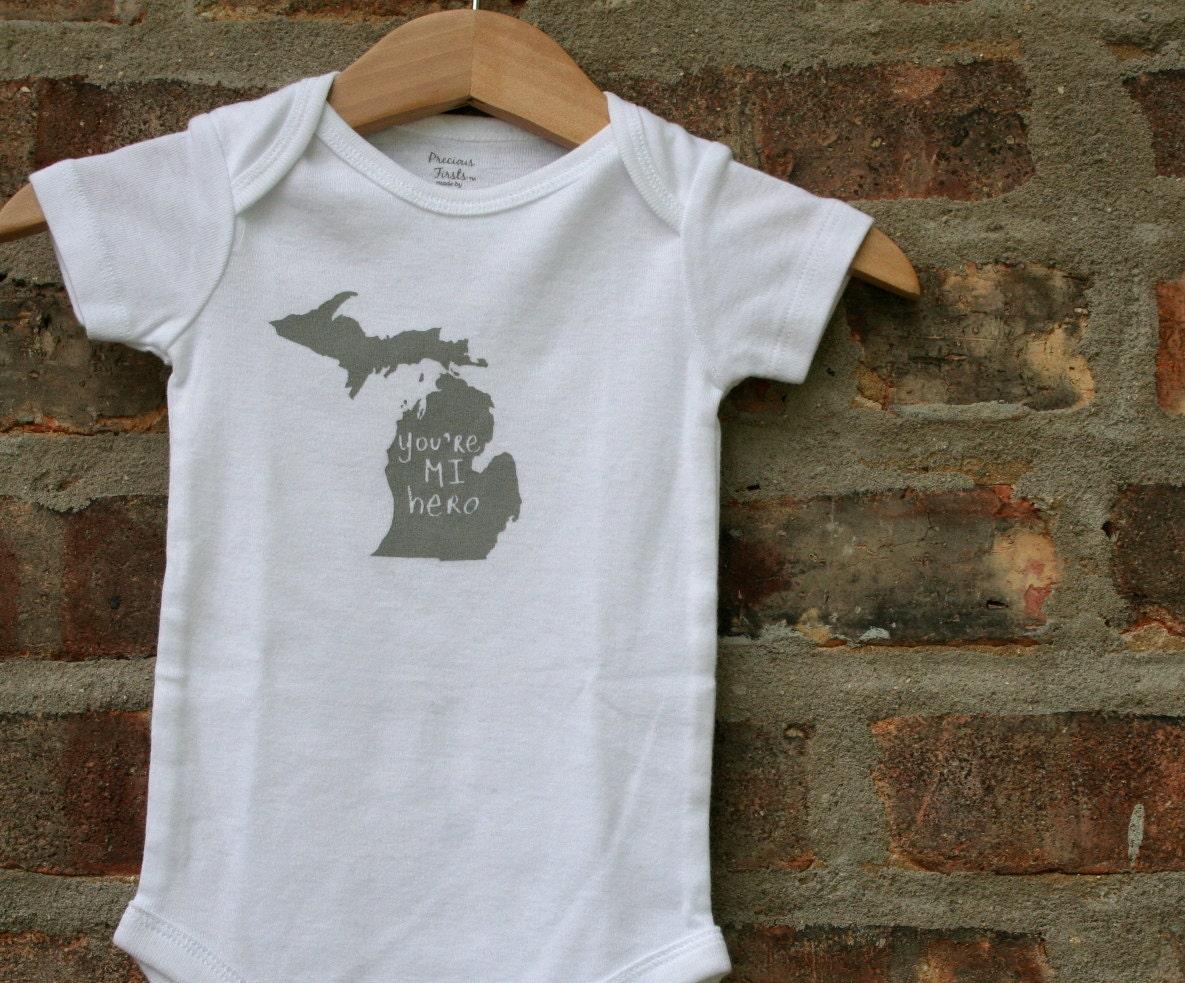 Michigan baby clothing michigan baby gift michigan love for T shirt printing westerville ohio