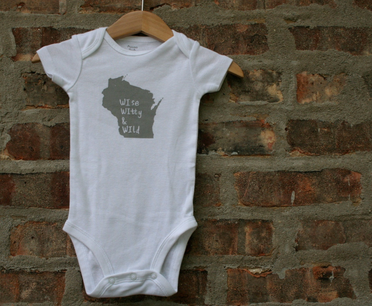 Wisconsin baby clothing wisconsin baby gift wisconsin for T shirt printing westerville ohio