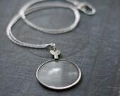 Antique Monocle Optical Lens Necklace
