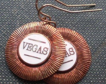 Vintage Vegas Chips Earrings