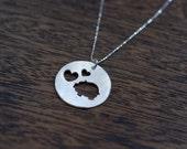 i love piggies necklace pig necklace piggy necklace love pigs necklace pig pendant sterling silver pig necklace