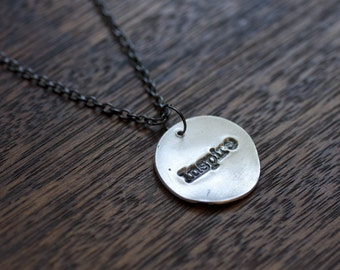 inspire necklace - everyday necklace - inspire jewelry - inspire charm - inspirational jewelry - inspirational necklace - sterling silver