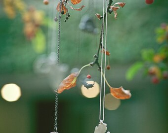 herringbone heart necklace - herringbone jewelry - herringbone pendant - boho style