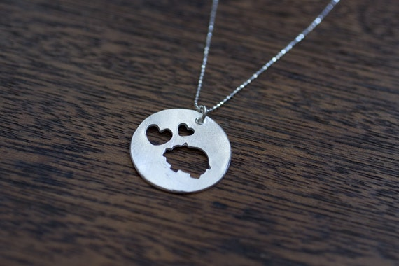 i love piggies necklace pig necklace piggy necklace love pigs necklace pig pendant sterling silver pig necklace