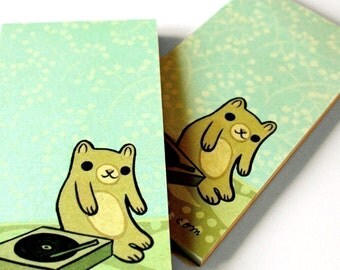 DJ Gift Notepad Music Notepad - deejay gift stocking filler gift for music lovers gift for vinyl lover gift for vinyl record lover