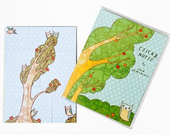 STICKY NOTES: Teacher Gifts, Owl Stationary Owl Stationery - Post It Notes - Planner Sticky Notes Planner