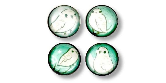 Snowy Owl SNOW OWL magnet set white owl hedwig owl christmas gift owl illustration