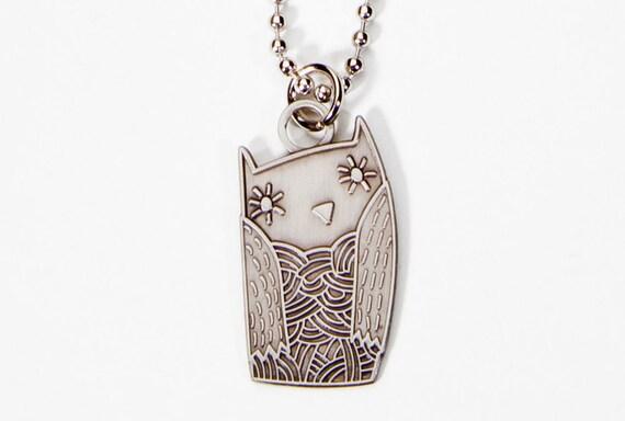 Owl Necklace Jewelry - Chi Omega Owl Necklace - Chi Omega Owl Jewelry - Owl Charm Necklace Owl Jewelry Owl Chi Omega
