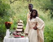 Wedding Dress Alternative Silk Kimono and Corset Steampunk Asian Firefly