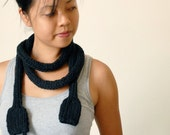 Chunky Scarf - Knit Necklace - Statement Piece - Knitted Power Cord - Guy Gift - Geek - Mens - Unisex - Toy - Geekery