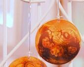 Caramel Swirl Copper Disc Dangle