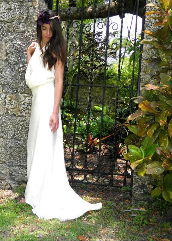 Hemp dress white tara wedding dress light organic for Organic cotton wedding dress
