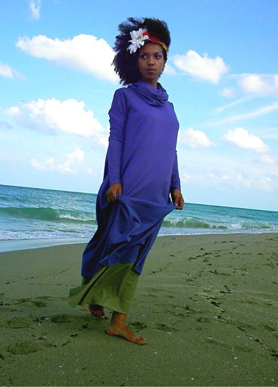 Sunset Lounger Organic Maxi Dress. Sustainable organic hemp custom made clothing by Grateful Threads Asheville. Handmade. Conscious.