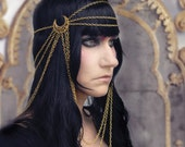 Guinevere Chain Headdress Headpiece Elegant Beauty Of A Goddess Custom Made in Your Size