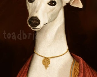 Aristocratic Whippet Portrait