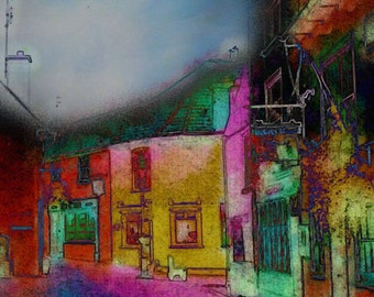 Street in Kinsale, Co Cork, Ireland Limited Edition Digital Print