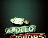 Retro Sign Print 8x8  - Apollo Liquors - Fine Art Lomo Photography