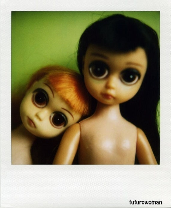 Polaroid Print 5x7 - Susie Sad Eyes Dolls - Fine Art Photography
