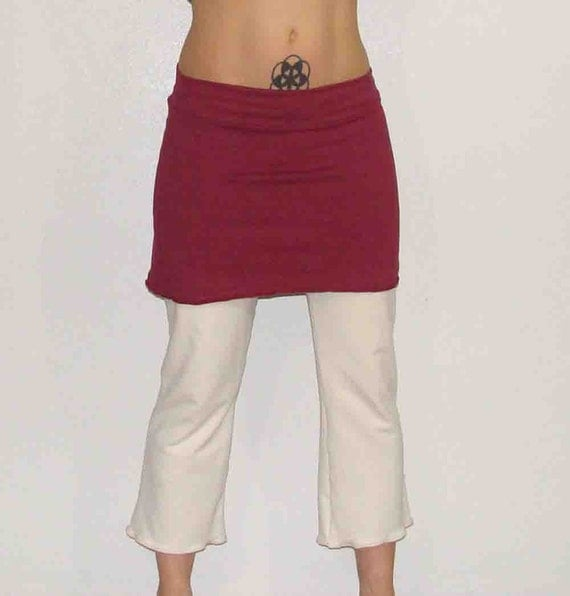 Organic cotton and Soy Capri style pants Custom made and hand dyed  just for you