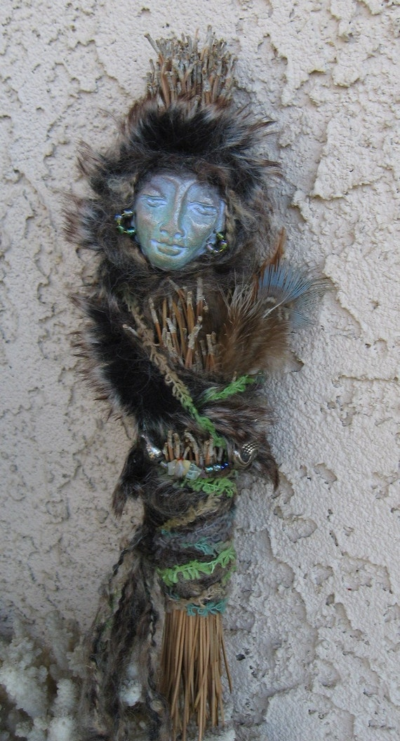 Mountain Spirit Loving Protector, and Healer.  Numen Art Doll by Griselda Tello Ooak