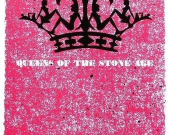 Queens of the Stone Age, rock gig poster hand screenprinted - limited edition - silk screen