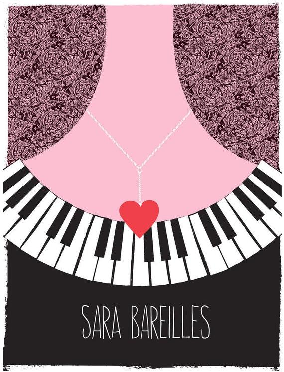 Screenprint Poster for Sara Bareilles Tour Poster - Silkscreen Print Limited Edition