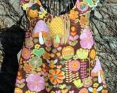 Fairy Mushroom reversible pinafore
