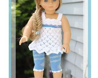 "Ocean Breeze Crochet Pattern For 18"" American Girl, Gotz, Madame Alexander and more Dolls"