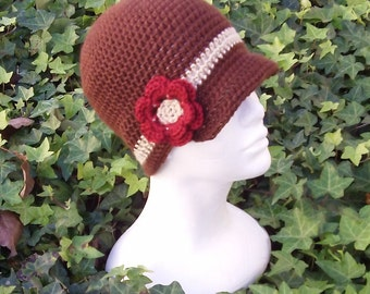 Handmade Flower Beanie - Custom - Choose your own size and colors