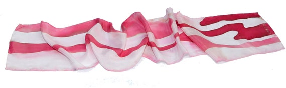 bacon silk scarf  - hand painted