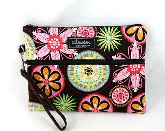 Padded Kindle iPad Mini Nook eReader Wristlet- Carnival