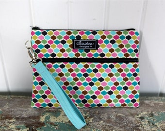 Padded Apple iPad Pouch Wristlet Bag- Lucy
