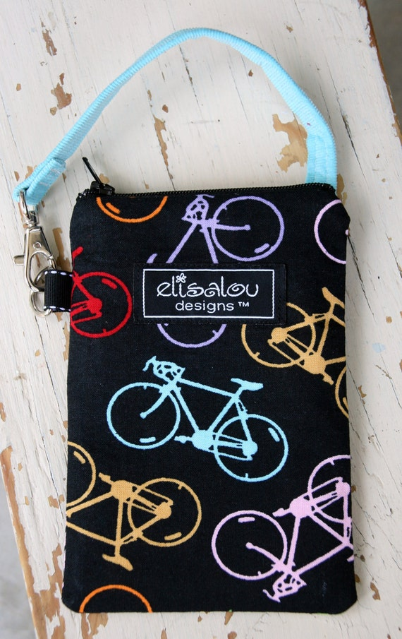 Shaz Bicycle Padded Gadget Pouch- iPhone, iPhone 5, iPod, Blackberry, Cellphone,  Camera