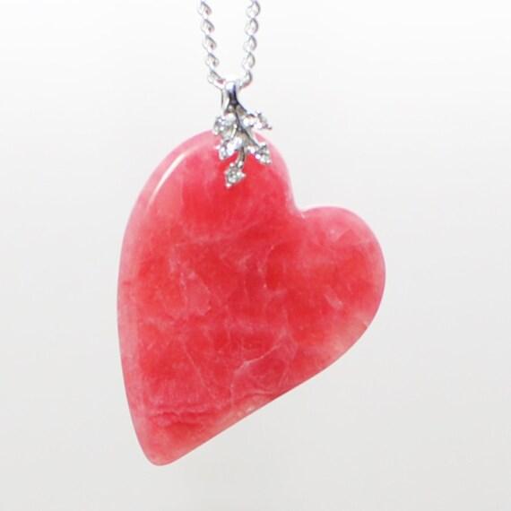 SALE Rose Heart Pink Quartz Necklace Have a Heart